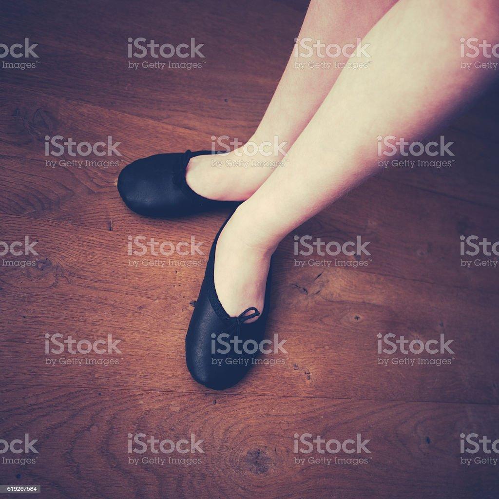wearing ballet slippers stock photo 619267584 istock