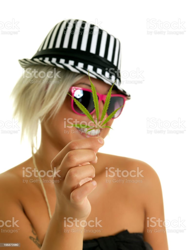Girl weed royalty-free stock photo