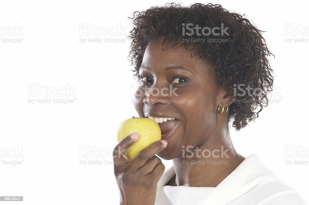 Girl whit an apple royalty-free stock photo