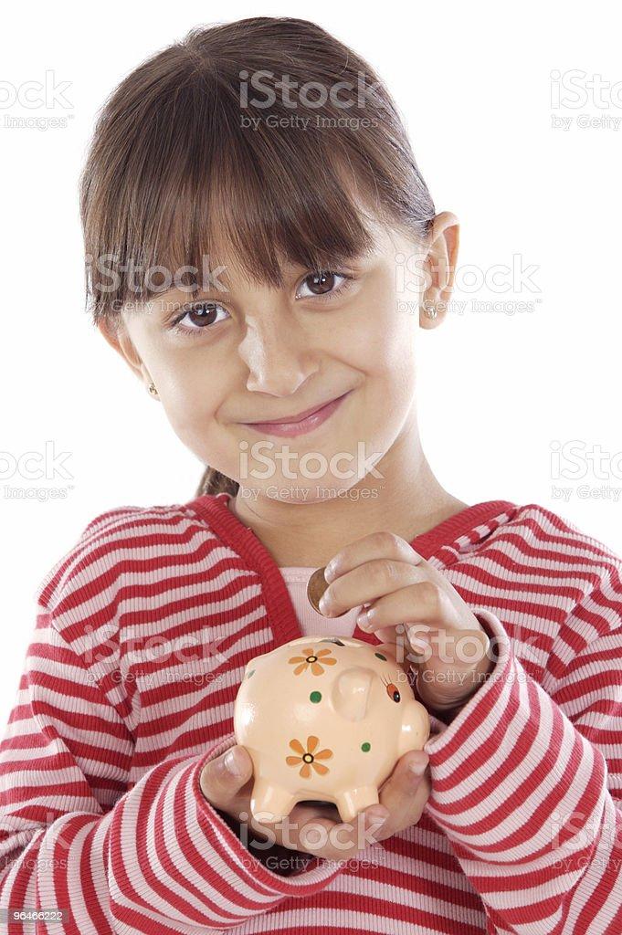 girl whit money box royalty-free stock photo