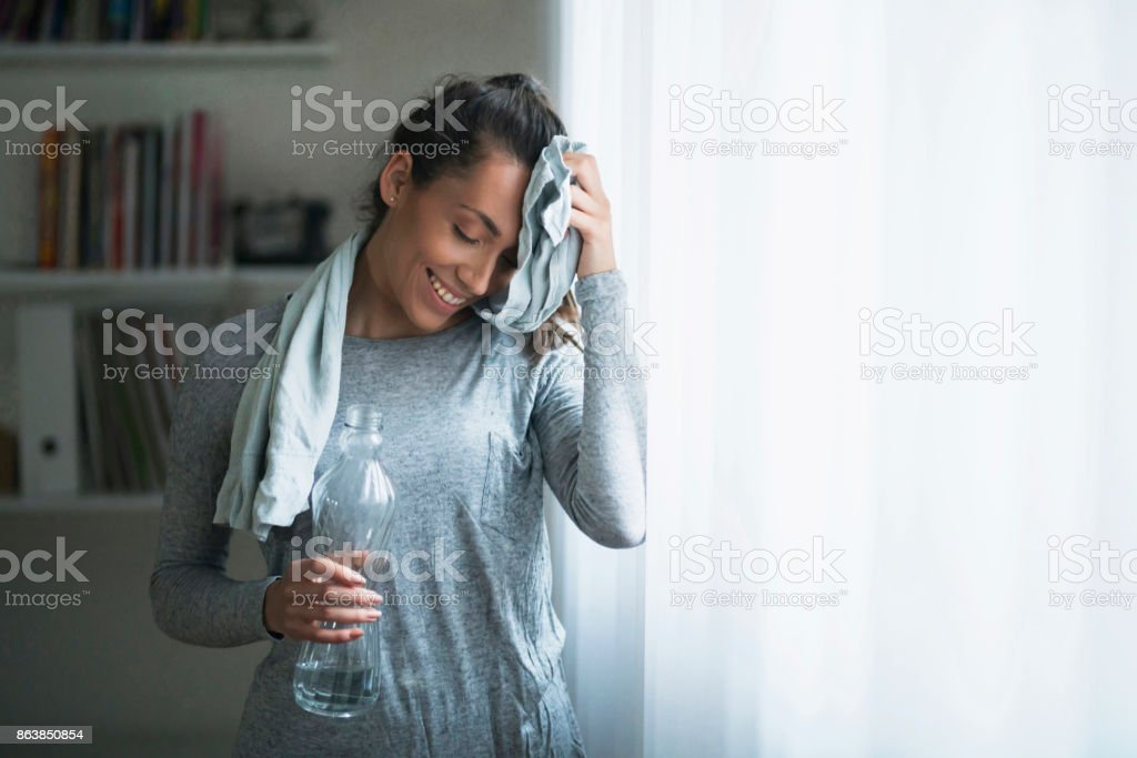 Girl Who Crushed It Today stock photo