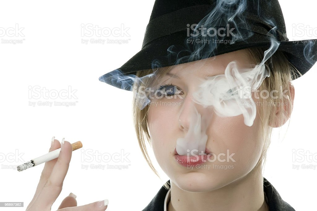 ragazza che fuma royalty-free stock photo