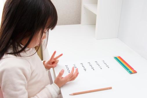 istock Girl who studies the arithmetic 492961581