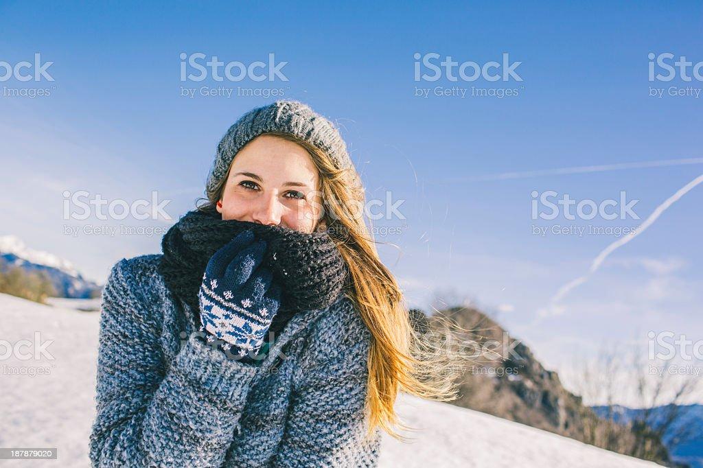 Girl Winter stock photo