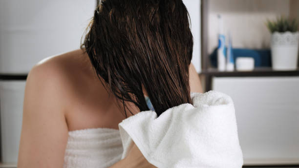Apply coconut oil before and after hair wash