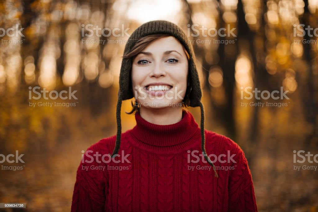 Girl with a beautiful smile stock photo