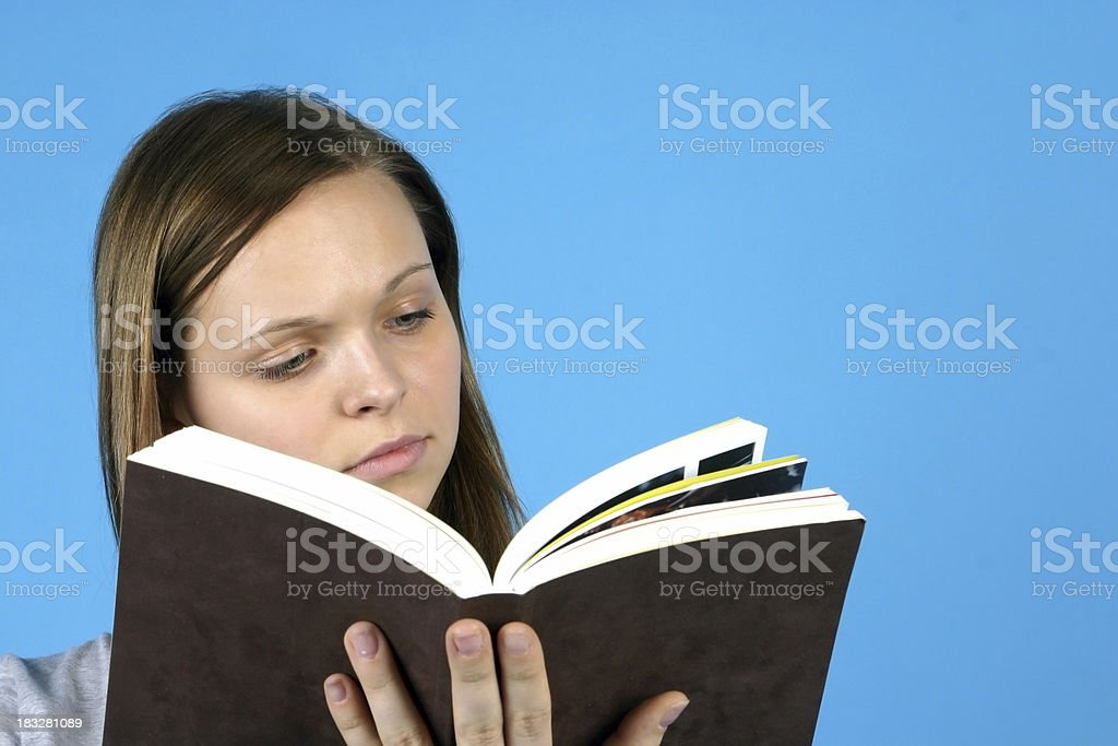 Girl with a book royalty-free stock photo