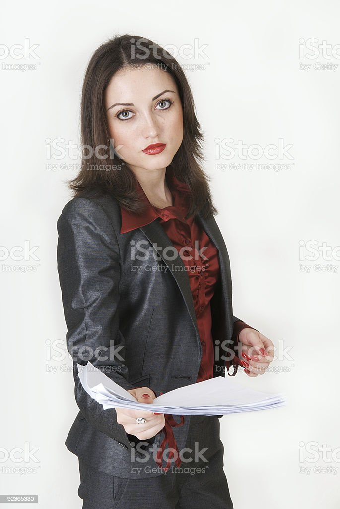 girl with a documents royalty-free stock photo