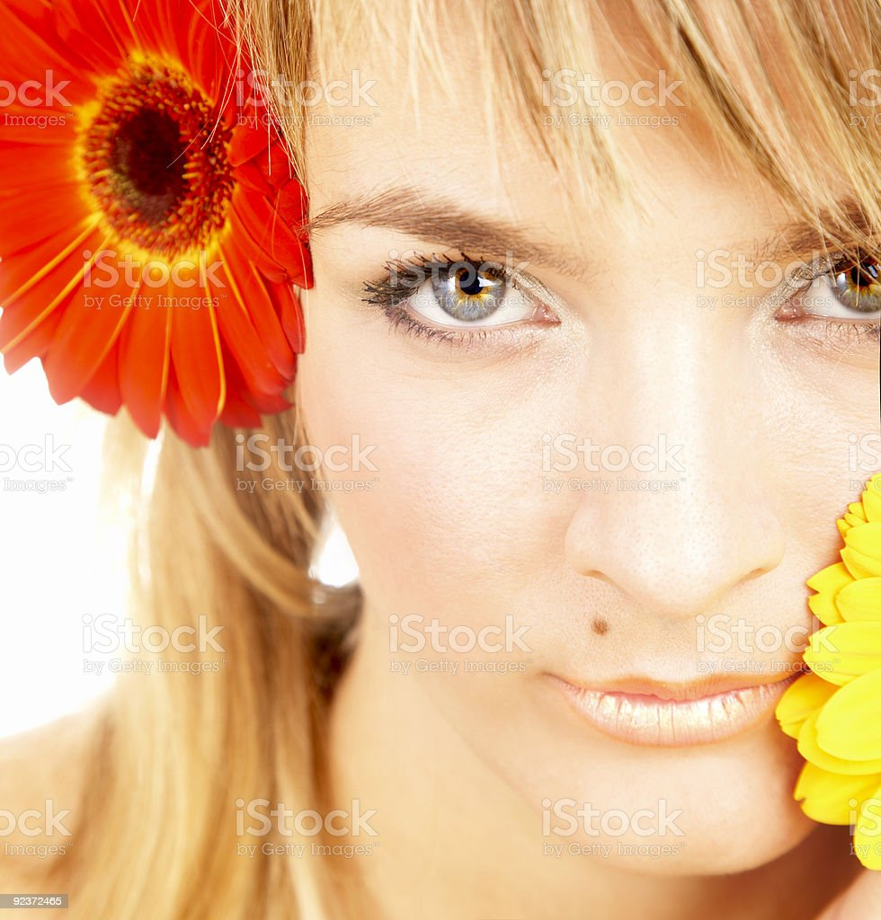 girl with a flower royalty-free stock photo