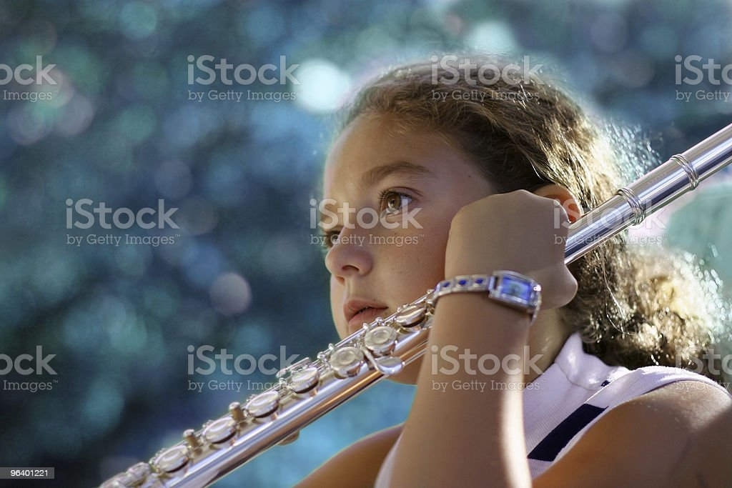 Girl with a flute - Royalty-free Activity Stock Photo