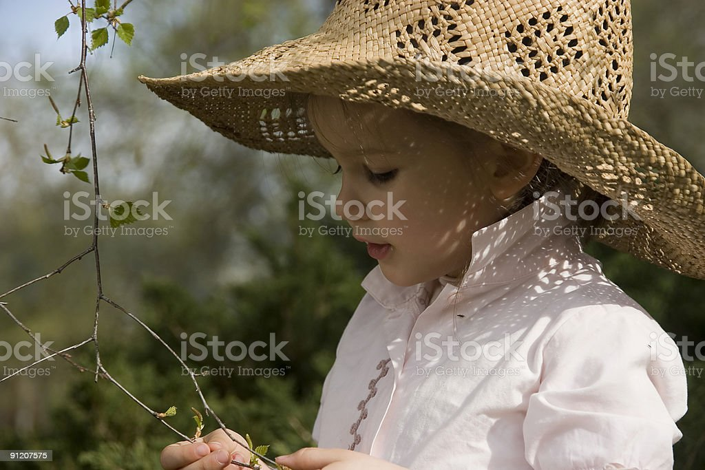 Girl with a hat royalty-free stock photo