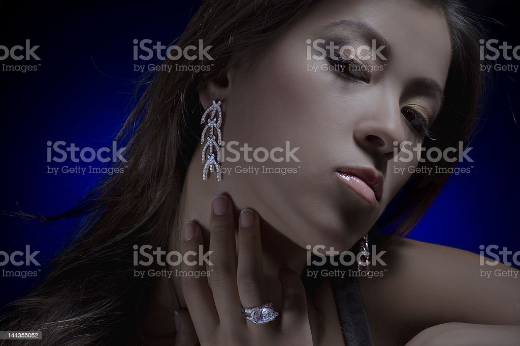 girl with a jewel royalty-free stock photo