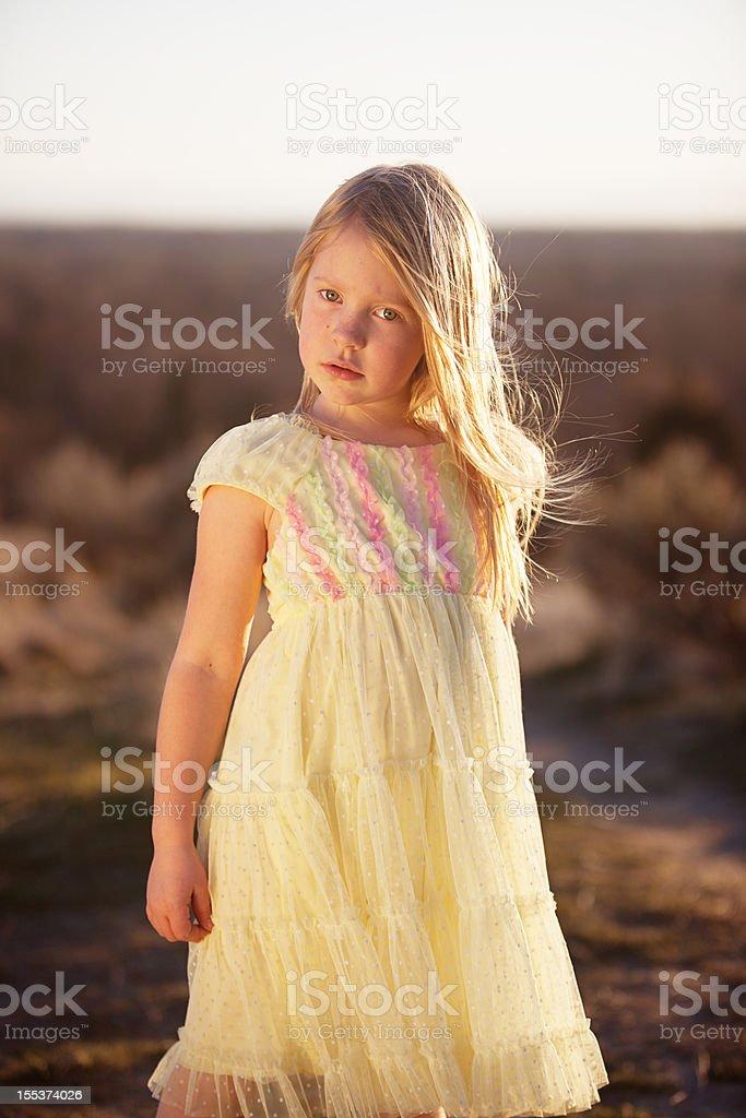 Girl with attitude royalty-free stock photo