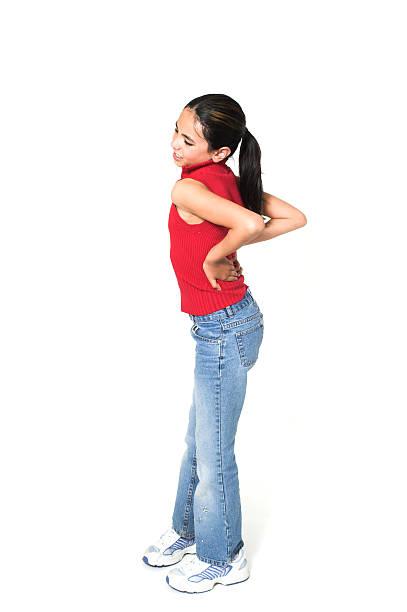 girl with backache stock photo