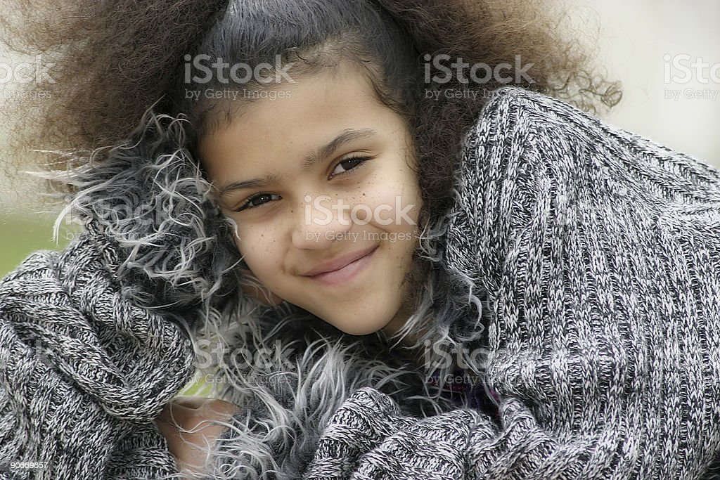 Girl With Beautiful Smile royalty-free stock photo
