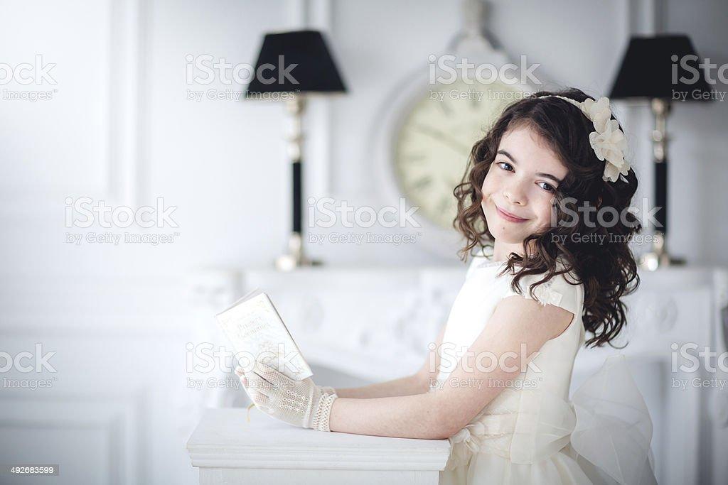niña con 576 libro Biblia 、comunion 、fiesta ストックフォト