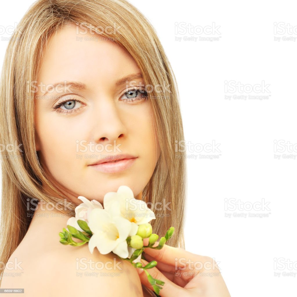 Girl with blond hair foto stock royalty-free