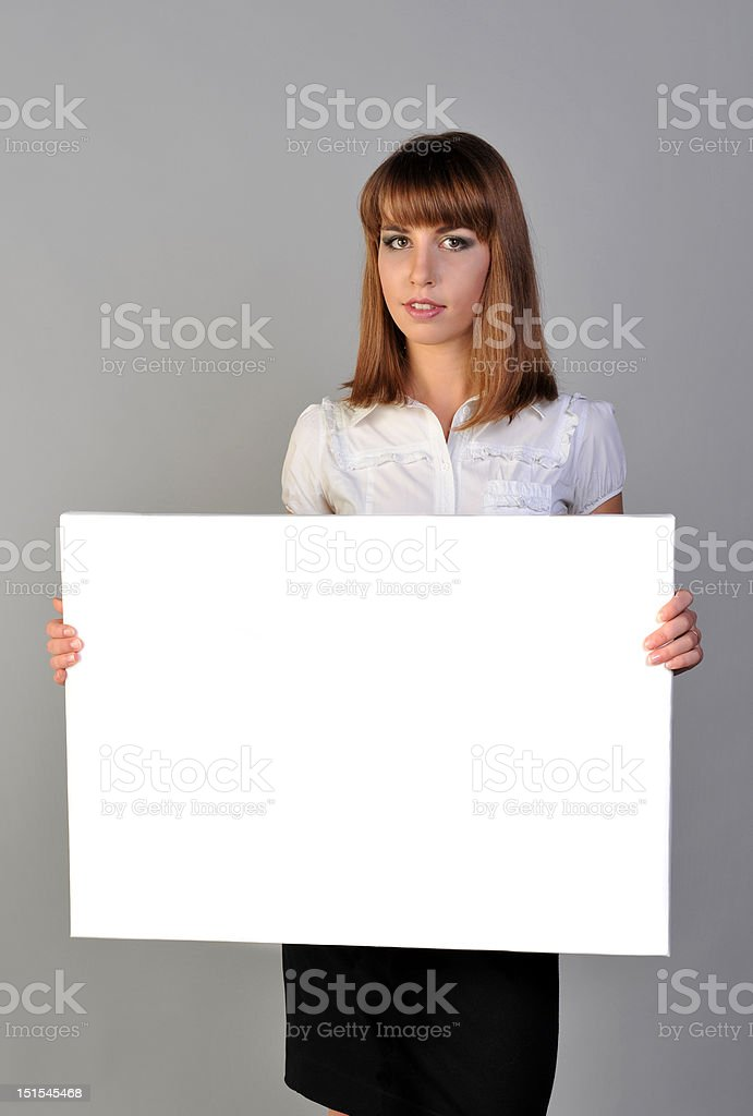 girl with board royalty-free stock photo