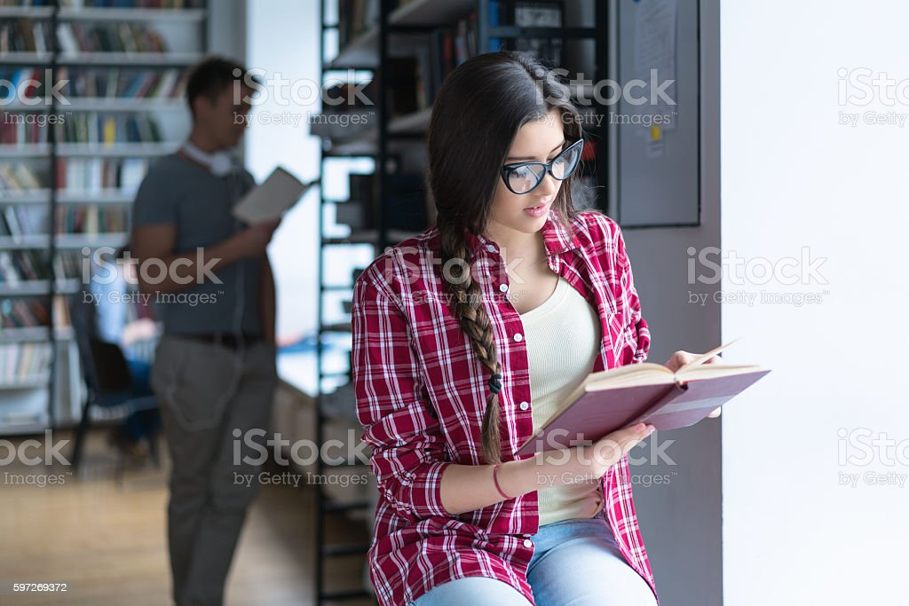 Girl with book royalty-free stock photo