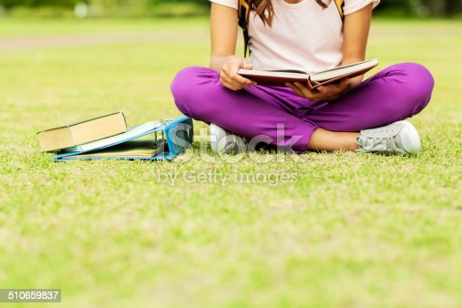 istock Girl With Books And Ring Binder Studying On Campus 510659837