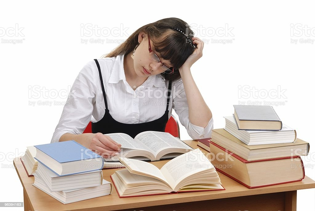 Girl with Books - Royalty-free Book Stock Photo