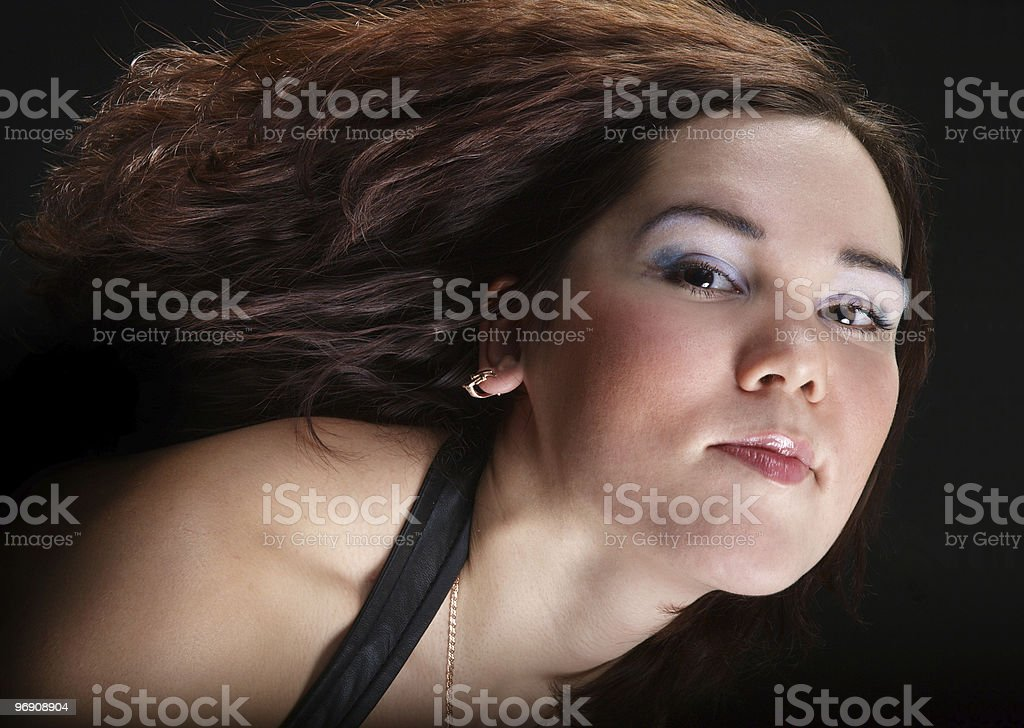 Girl with brown hair royalty-free stock photo