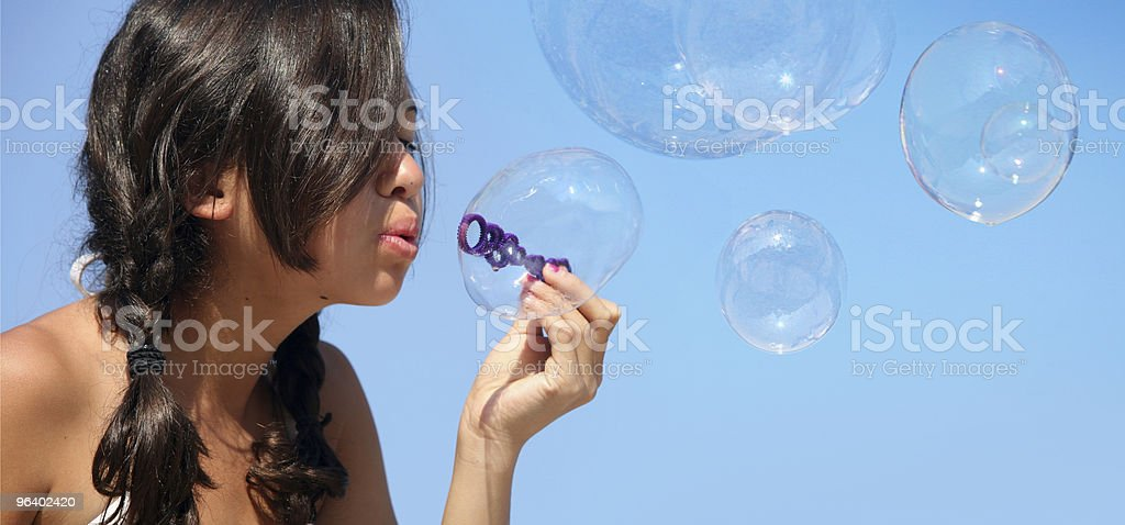 Girl with bubbles - Royalty-free Adolescence Stock Photo