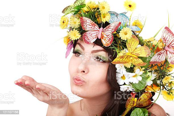 Girl with butterfly and flower on head picture id121107156?b=1&k=6&m=121107156&s=612x612&h=ucblr573jdsyceeebezh6 7ilbx5frzy4ni0tmzelyk=