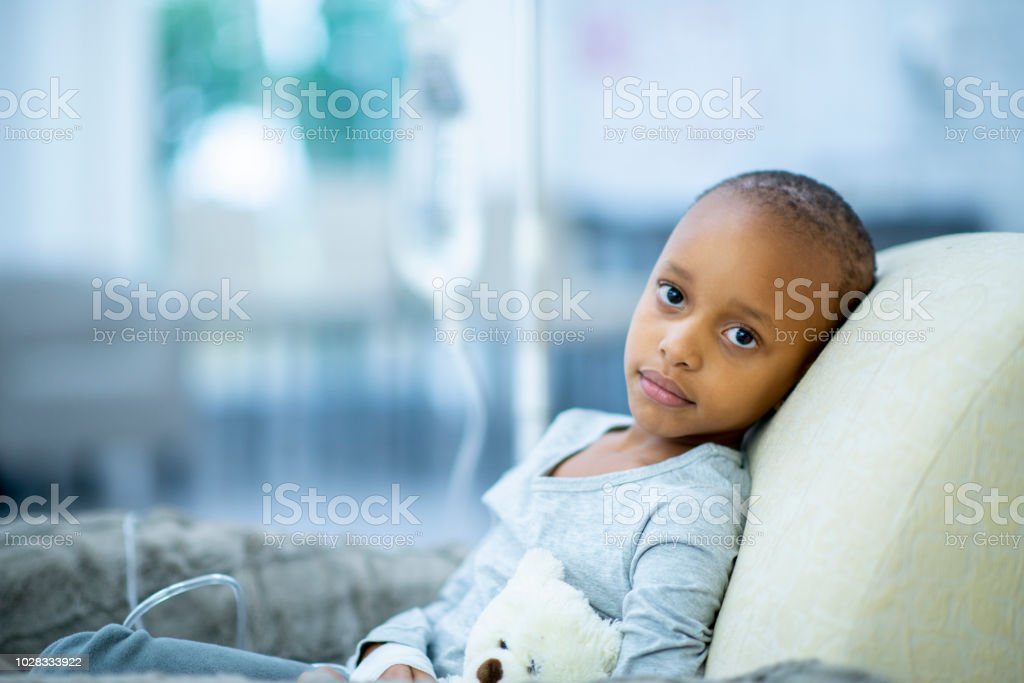 Girl With Cancer stock photo