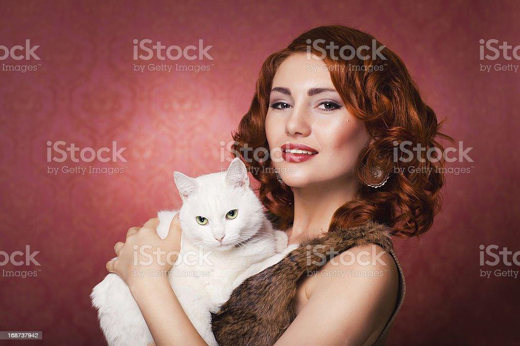 Mädchen mit Katze – Foto