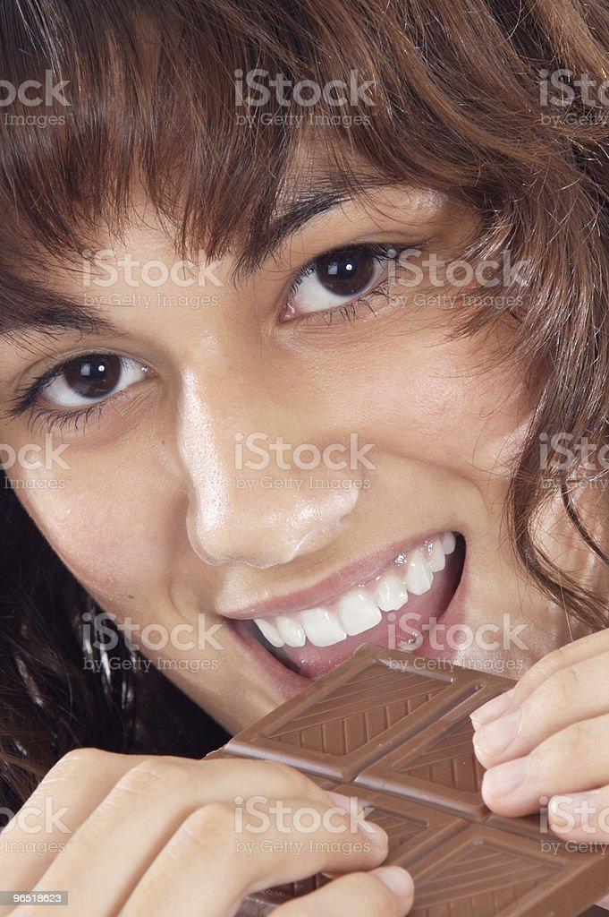 Dziewczyna z czekoladą zbiór zdjęć royalty-free
