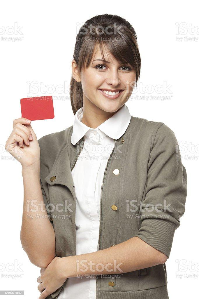 Mädchen mit Kreditkarte – Foto