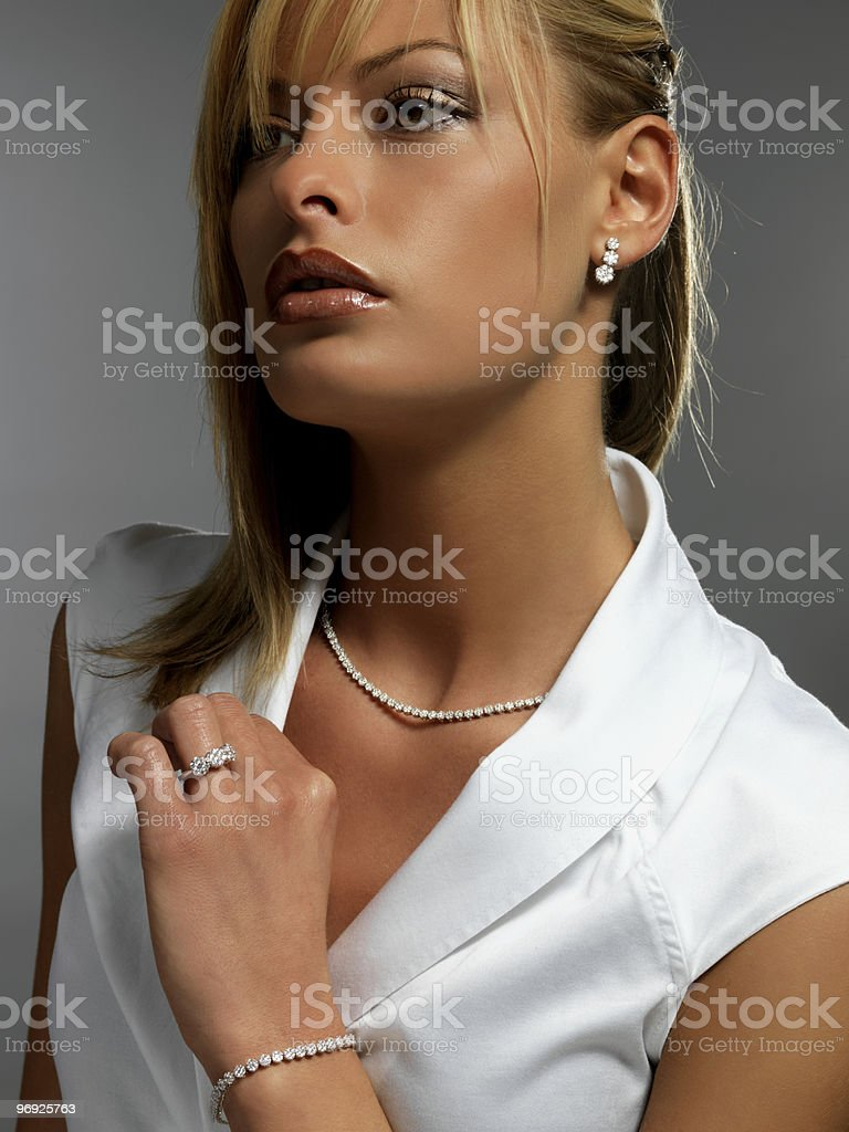 girl with diamonds royalty-free stock photo
