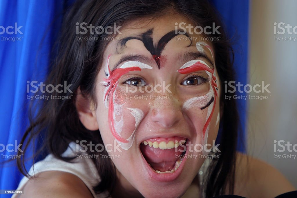 Girl with face paint royalty-free stock photo