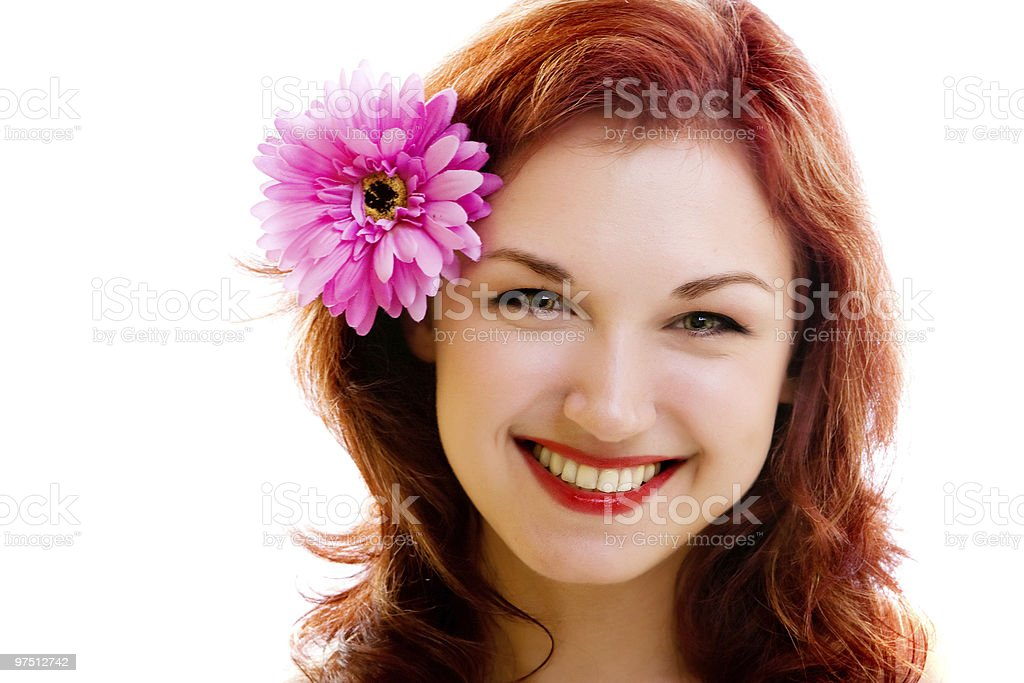 girl with flower royalty-free stock photo