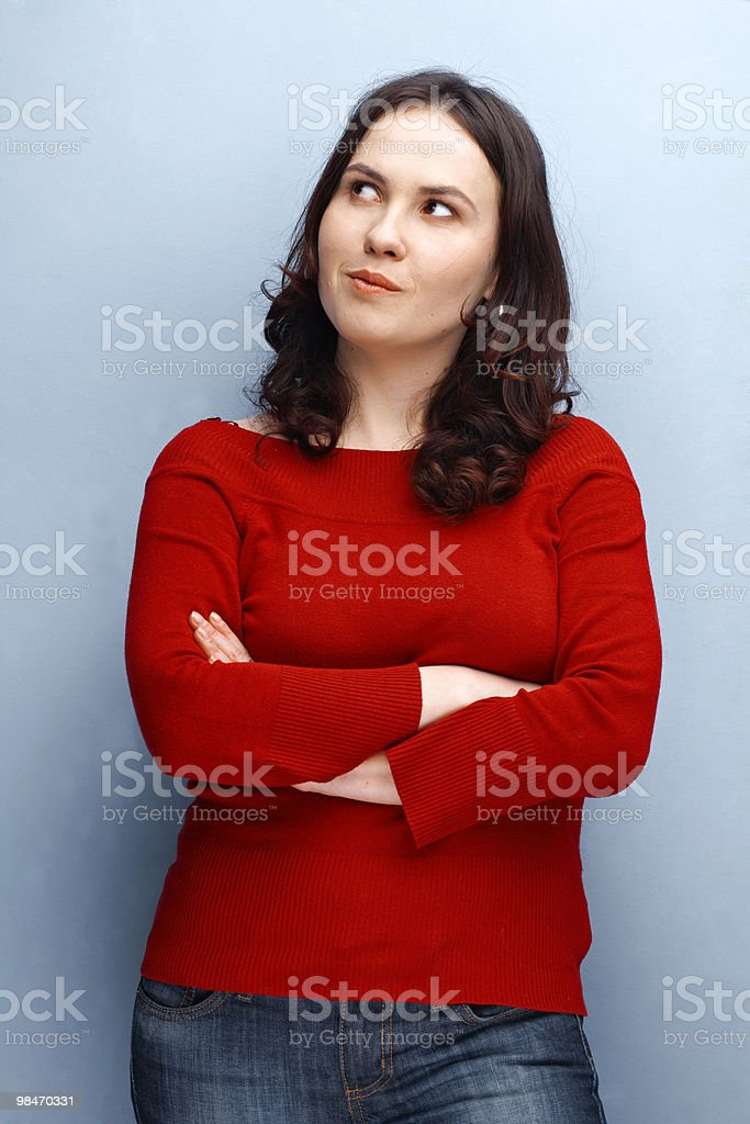 Girl With Folded Hands royalty-free stock photo
