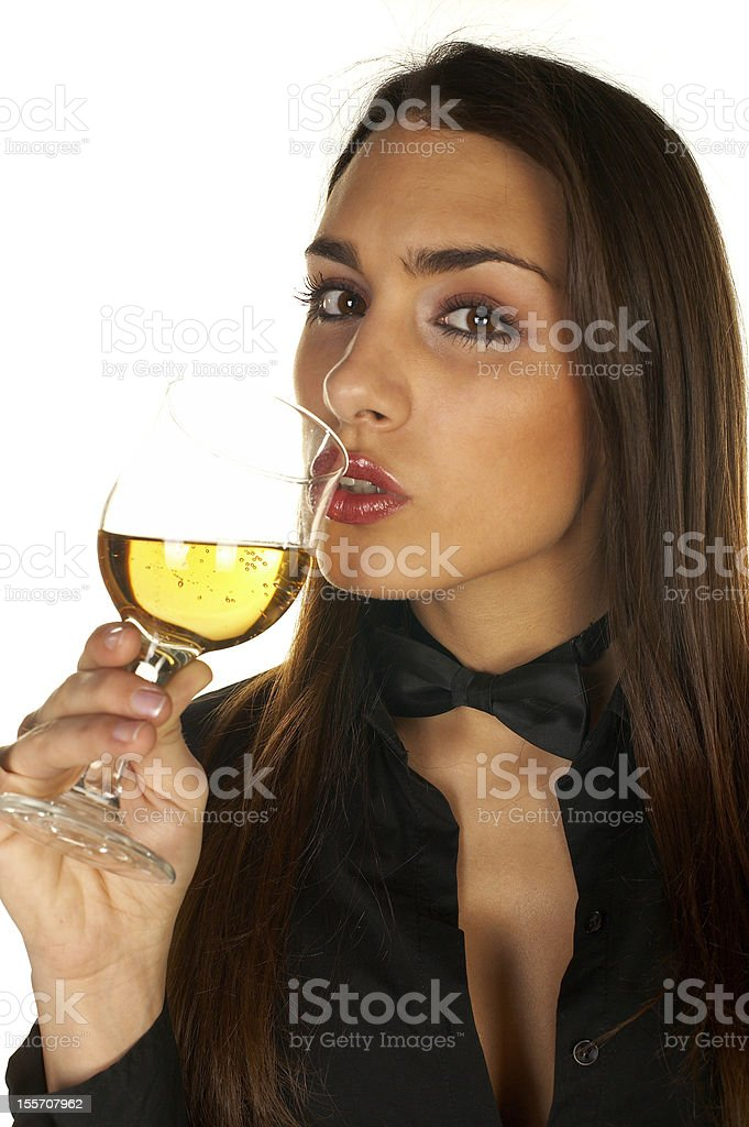 Girl With Glass royalty-free stock photo