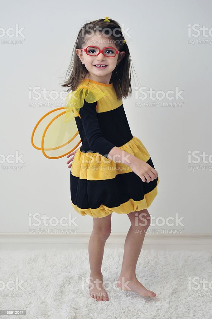 Girl With Glasses Like A Bee stock photo