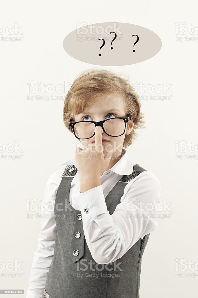 girl with glasses royalty-free stock photo
