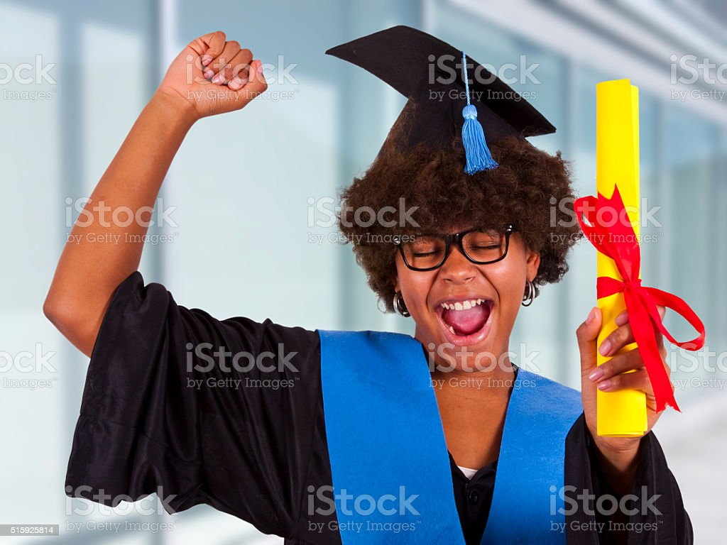 Girl With Graduation Gown Stock Photo & More Pictures of 1920-1929 ...