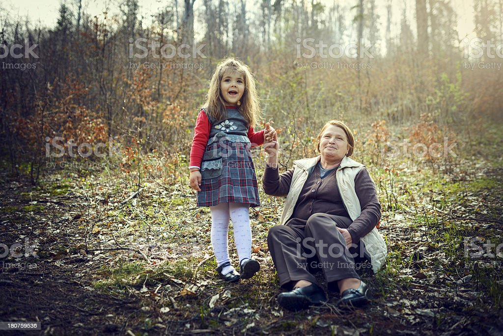 girl with grandma royalty-free stock photo