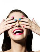 istock Girl with hands over her eyes 82663367