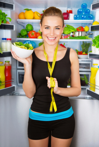 istock Girl with healthy food 498611743