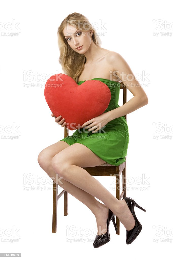 Girl with heart. royalty-free stock photo