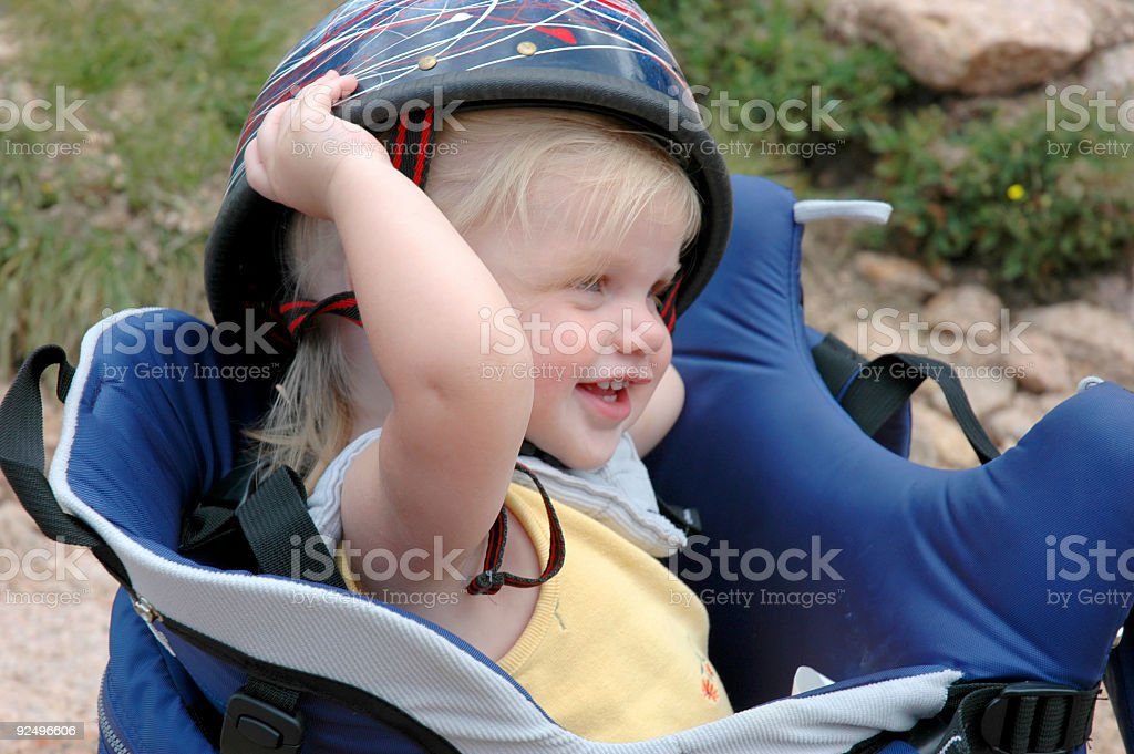 Girl with Helmet royalty-free stock photo
