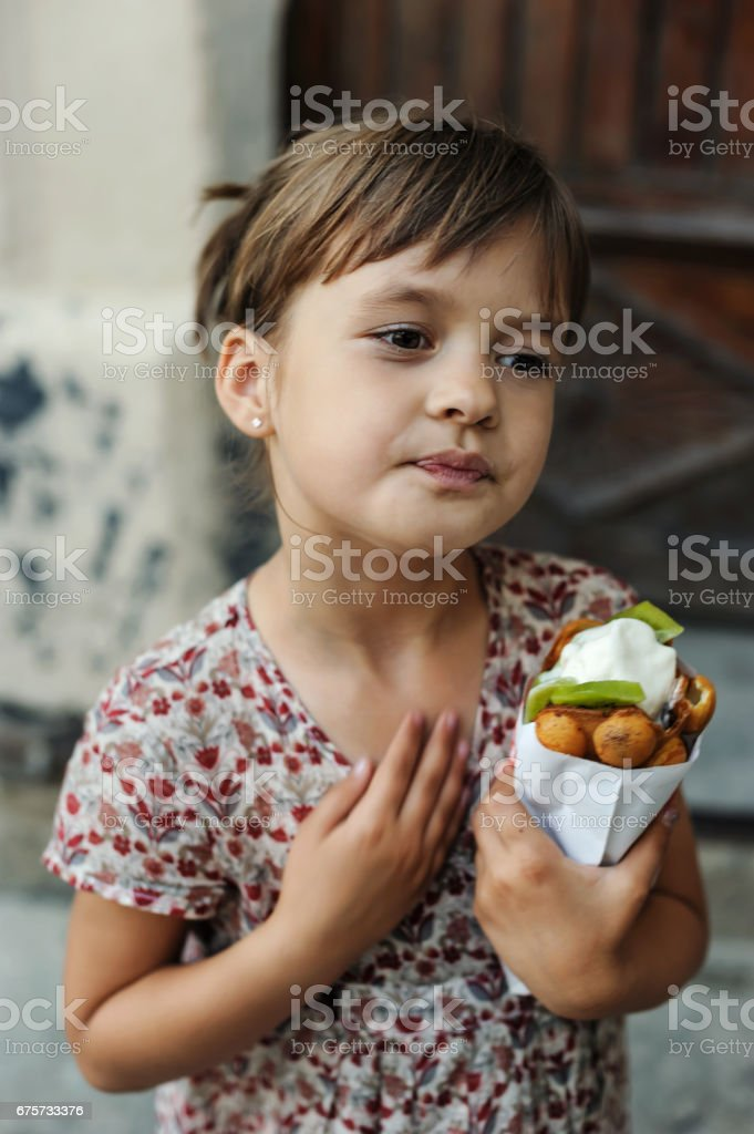 Girl with ice cream. – zdjęcie