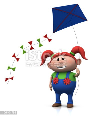 istock girl with kite 106404763