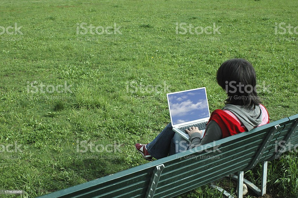 girl with laptop - 4 royalty-free stock photo