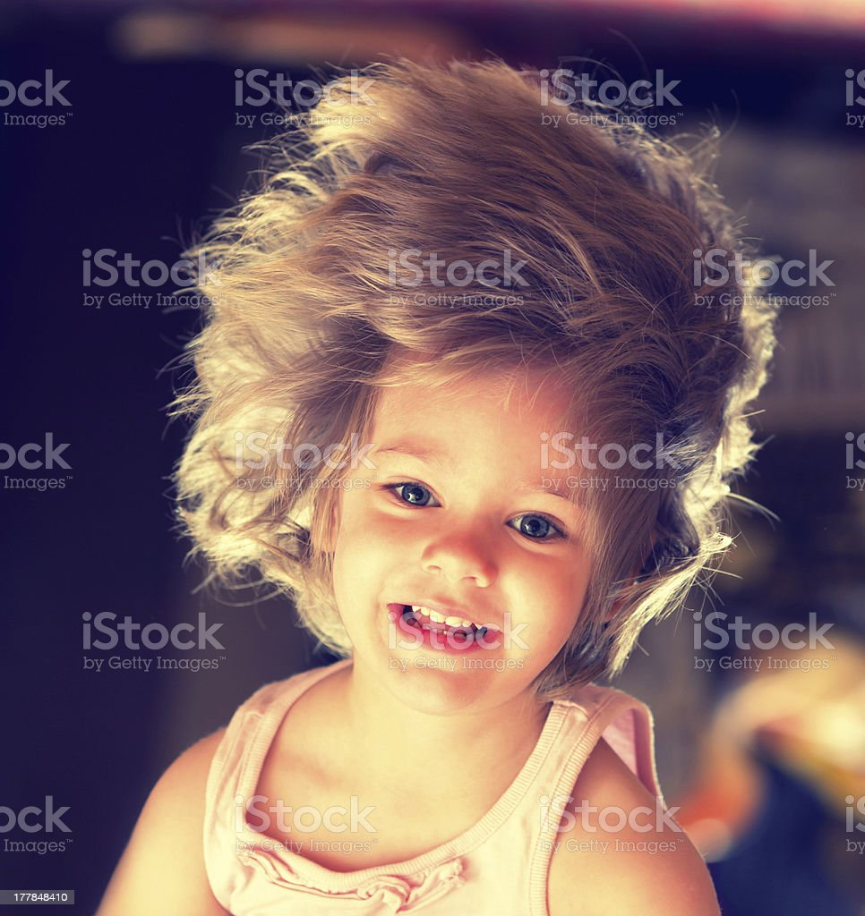 Girl with long hair royalty-free stock photo