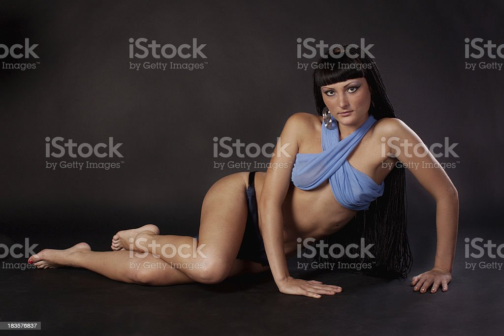 girl with makeup. historical image royalty-free stock photo